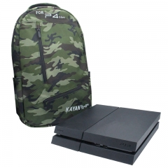 Big Protective Travel Carrying Case In-Car Bag For PS4 slim Console/ Camouflage