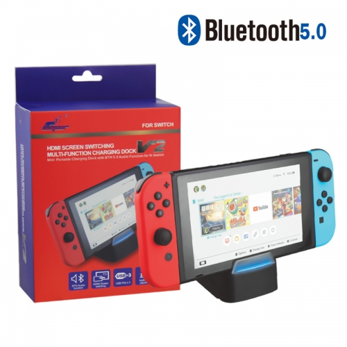 Multi-function Charing Dock  With Bluetooth 5.0 For Nintendo Switch