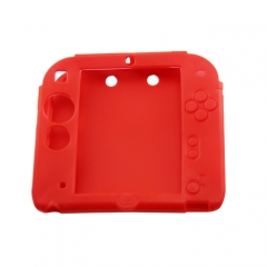 Silicone Soft Skin Protective Case Cover for Nintendo 2DS Console red