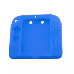 Silicone Soft Skin Protective Case Cover for Nintendo 2DS Console blue