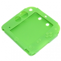 Silicone Soft Skin Protective Case Cover for Nintendo 2DS Console green