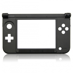 Replacement Hinge Part Bottom Middle Housing Shell with Button for 3DS XL - Black