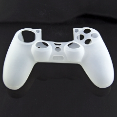 Silicone Skin Case for PS4 Controller- White