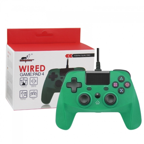 PS4/PS3/PC Wired Controller with Sensor Function Green Color