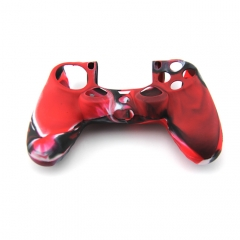 PS4 Controller Silicone Case -Camouflage Red