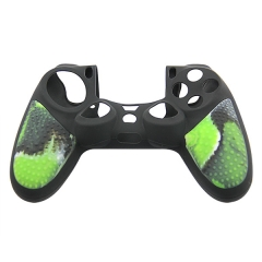 New Silicone Skin Case for PS4 Controller Camouflage green+black with PP bag