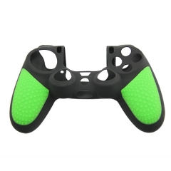 New Silicone Skin Case for PS4 Controller green+black with PP bag