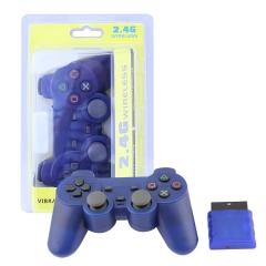 Wireless Controller For PS2 -Crystal Blue