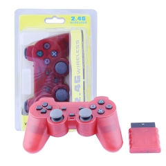 Wireless Controller For PS2 -Crystal Red