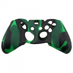 Silicone Case for XBOX One Controller -dark green+black