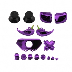 XBOX ONE Controller Electroplate Full Button Sets Mod Kits Purple Color