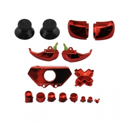 XBOX ONE Controller Electroplate Full Button Sets Mod Kits Red Color
