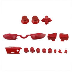 Full Buttons 9 Colors /  1 Set LB RB Bumpers Triggers Buttons DPAD LT RT For Xbox One Elite Controller - Red
