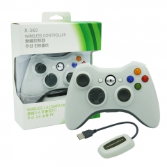 XBOX 360/PC 2.4G wireless controller neutral Packing/White