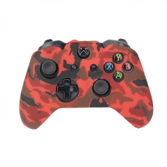 XBOX One Controller New camouflage Silicone Case -camouflage red+black