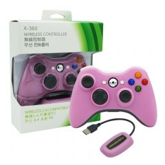 XBOX 360/PC 2.4G wireless controller neutral Packing/Pink