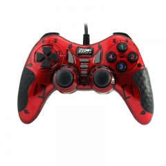 Wired Game controller PC USB Joypad (Red)