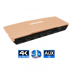 3 Ports HDMI Switcher , Supports 4K (3840 x 2160 @ 30Hz). HDCP, ARC, Deep Color, 3DTV pass-through