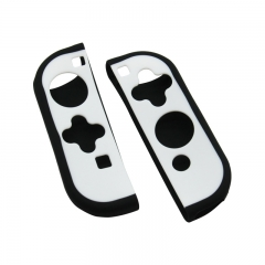 Joy-con Protective Skin Cover Soft Silicone Case For Nintendo Switch--white+black