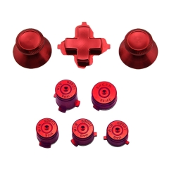 Colorful Chrome Metal Aluminum Alloy Universal Bullet Buttons Set For XBox One Controller- Red