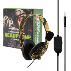 PS4/XBOX-ONE Gaming headset---Camouflage yellow