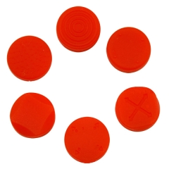 New Arrival Silicone Button Protector Thumb Stick Cap Cover Kit For PS Vita 1000 2000--Red