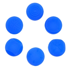 New Arrival Silicone Button Protector Thumb Stick Cap Cover Kit For PS Vita 1000 2000-- Blue