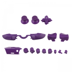 Full Buttons 9 Colors /  1 Set LB RB Bumpers Triggers Buttons DPAD LT RT For Xbox One Elite Controller - Purple