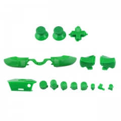 Full Buttons 9 Colors /  1 Set LB RB Bumpers Triggers Buttons DPAD LT RT For Xbox One Elite Controller - Green