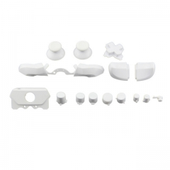 Full Buttons 9 Colors /  1 Set LB RB Bumpers Triggers Buttons DPAD LT RT For Xbox One Elite Controller - White