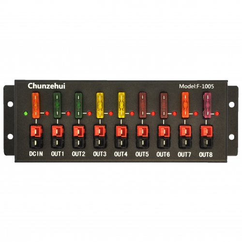 Chunzehui F-1005 9 Port 40A Anderson Powerpole Connector Power Splitter Distributor Source Strip, 1 Input and 8 Output.