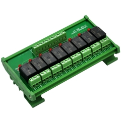 ELECTRONICS-SALON DIN Rail Mount 8 SPDT Power Relay Interface Module. (Operating Voltage: DC 5V)
