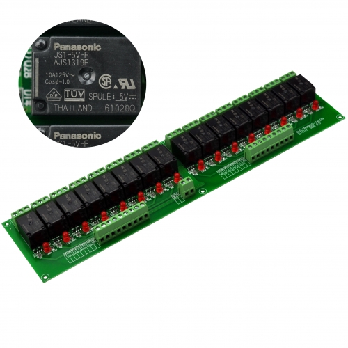 ELECTRONICS-SALON 16 SPDT 10Amp Power Relay Module, DC 5V Version.