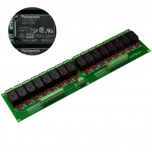 ELECTRONICS-SALON 16 SPDT 10Amp Power Relay Module, DC 24V Version.