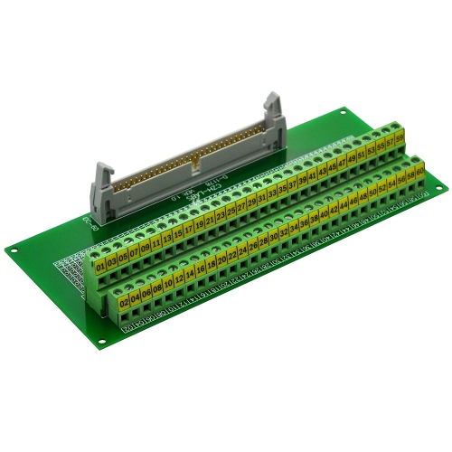 "CZH-LABS IDC-60 Male Header Connector Breakout Board Module, IDC Pitch 0.1"", Terminal Block Pitch 0.2"""