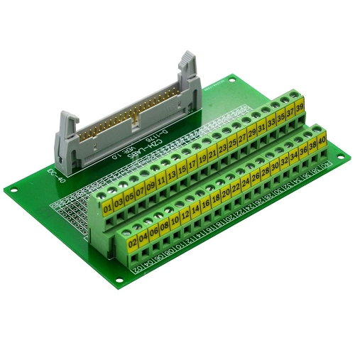 "CZH-LABS IDC-40 Male Header Connector Breakout Board Module, IDC Pitch 0.1"", Terminal Block Pitch 0.2"""