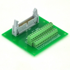 "ELECTRONICS-SALON IDC26 2x13 Pins 0.1"" Male Header Breakout Board, Terminal Block, Connector."