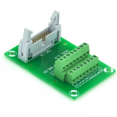 "ELECTRONICS-SALON IDC16 2x8 Pins 0.1"" Male Header Breakout Board, Terminal Block, Connector."