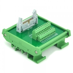 ELECTRONICS-SALON IDC-20 DIN Rail Mounted Interface Module, Breakout Board, Terminal Block.