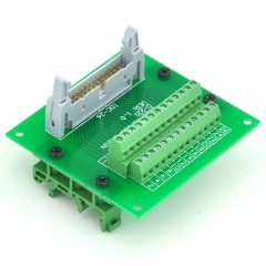 ELECTRONICS-SALON IDC26 Header Interface Module with Simple DIN Rail Mounting feet.