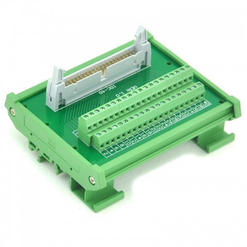 ELECTRONICS-SALON IDC-40 DIN Rail Mounted Interface Module, Breakout Board, Terminal Block.