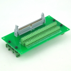 ELECTRONICS-SALON IDC50 Header Interface Module with Simple DIN Rail Mounting feet.