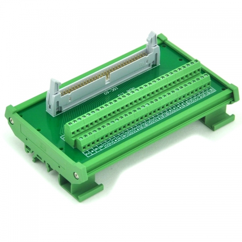 ELECTRONICS-SALON IDC-60 DIN Rail Mounted Interface Module, Breakout Board, Terminal Block.