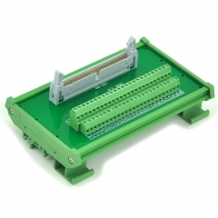 ELECTRONICS-SALON IDC-50 DIN Rail Mounted Interface Module, Breakout Board, Terminal Block.