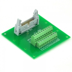 "ELECTRONICS-SALON IDC20 2x10 Pins 0.1"" Male Header Breakout Board, Terminal Block, Connector."
