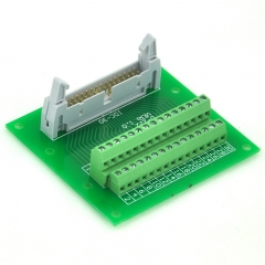 "ELECTRONICS-SALON IDC30 2x15 Pins 0.1"" Male Header Breakout Board, Terminal Block, Connector."
