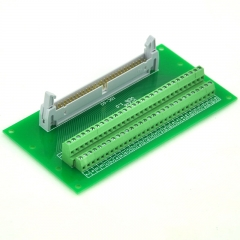 "ELECTRONICS-SALON IDC60 2x30 Pins 0.1"" Male Header Breakout Board, Terminal Block, Connector."
