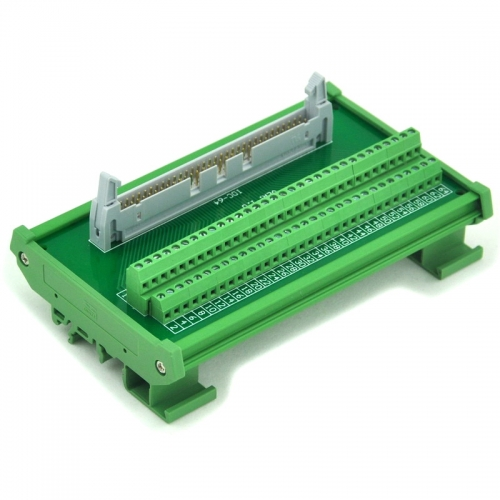 ELECTRONICS-SALON IDC-64 DIN Rail Mounted Interface Module, Breakout Board, Terminal Block.