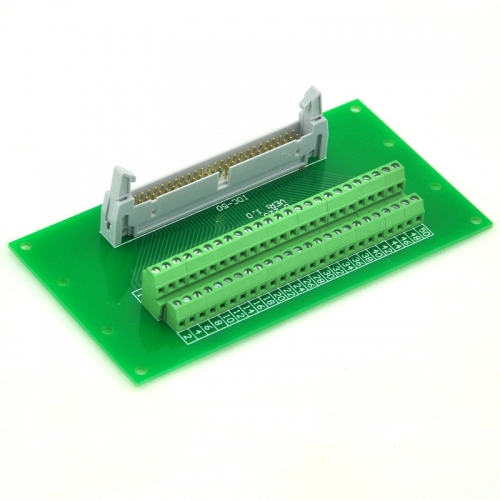 "ELECTRONICS-SALON IDC50 2x25 Pins 0.1"" Male Header Breakout Board, Terminal Block, Connector."