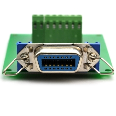 "CZH-LABS 14-Pin 0.085"" Centronics Female Ribbon Connector Screw Terminal Block Breakout Board."